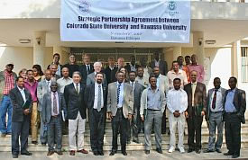 CSU delegation at Hawassa University
